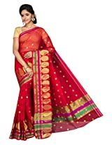 Korni Cotton Silk Banarasi Saree ISL-664- RED KR0430