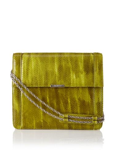 Jason Wu Women's Structured Snakeprint Shoulder Bag, Green