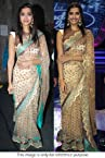 Bollywood Replica Sonam Kapoor Net Saree In Gold Colour NC209