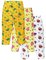 Snuggles Straight Legging AOP (Pack of 3) - White/Spectra yellow/Pastel Yellow (3-6M)