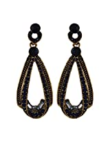 Fayon Funky Fashion Black Gemstone Elegant Stud Earrings