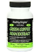 Healthy Origins Green Coffee Bean Extract 400 mg 60 Veggie Caps