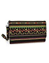 Kroo Paisley Designed Wristlet Clutch Wallet for 6-Inch Phones - Non-Retail Packaging - Rastafari