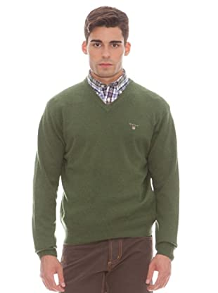 Gant Jersey Liso Pico (Verde)
