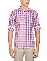 GHPC Men's 100% Cotton Casual Shirt(CS62701_44_Pink)