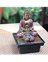 Bronze Lotus Budha LED Table Fountain