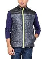 Yepme Men's Polyester Jacket (YPMJACKT0063_Black_X-Large)
