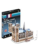 Notre Dame De Paris 39pcs S3012 H 3 D Puzzles Cubic Fun Worlds Great Architectures