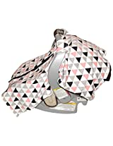 Unique Baby Trendy Carseat Cover with Geometric Triangle Print