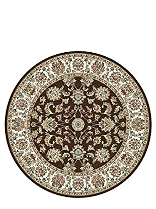 Universal Rugs Capri Traditional Area Rug, Brown, 6' Round