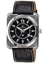 Maxima Attivo Steel Analog Black Dial Men's Watch - 24801LMGI