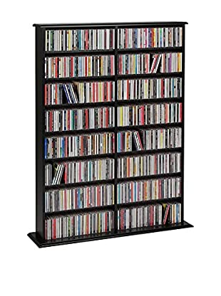 Prepac Double-Width Wall Storage, Black