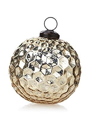 Medium Hexagon Design Glass Ball Ornament