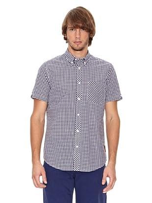 Ben Shermann Camisa Casual Ilias (Azul Claro / Blanco)