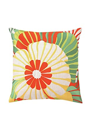 Trina Turk Sea Floral Embroidered Pillow (Orange)