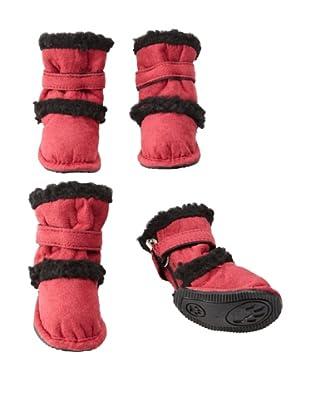 Pet Life Shearling Duggz Dog Shoes (Red/Black)