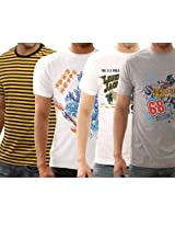 Funktees 100% Premium Cotton L Size T-Shirts - Pack of 4
