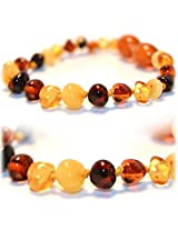The Art of Cure Tm Certified Baltic Amber Baby Teething Multi-Colored Bracelet - W/