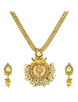Ethnic Indian Bollywood Jewelry Set Traditional Fashion Necklace SetABNE0339WH