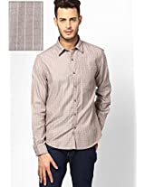 Brown Trim Fit Casual Shirt John Players