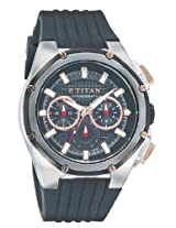Titan Octane Multi-Function Chronograph Black Dial Men's Watch - 9470KP02J