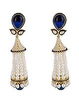 Agarwal Bentex Gold Plated Designer Moti Jhumki For Women