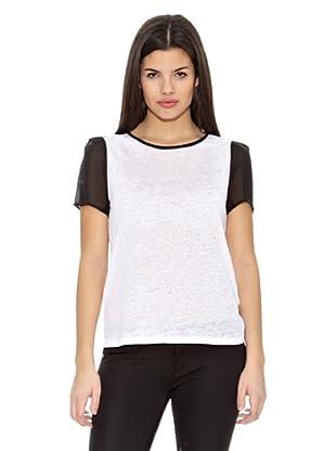Springfield Camiseta T Manga Contraste (Blanco)