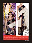Kajol Tussar silk chiku+ black Bollywood style saree.243