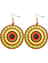 Designer's Collection Paper Quilling Festive Collection Ear Rings for Women-DSERF001