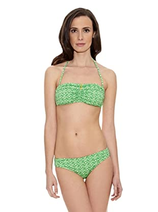 Cortefiel Bikini Bande Foam Extr Micro (Verde)