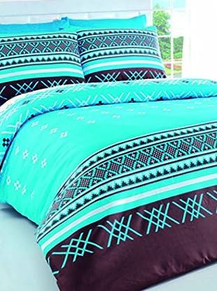 Colors Couture Bettdecke und Kissenbezug Sirtaki