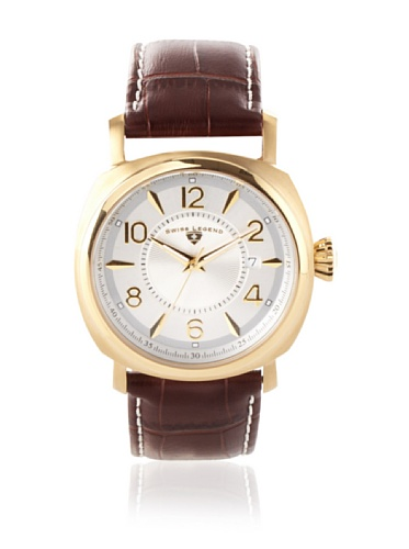 Swiss Legend Men's Executive Brown/Gold Textured Leather Watch