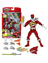 Bandai Year 2014 Sabans Power Rangers Dino Charge Series 7 Inch Tall Action Figure Armored Dino Red Ranger With Sword, 2 Blasters, Extra Pair Of Hands Plus More Accessories