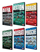 "Victory By Design DVDs. Complete Set. Porsche DVD, Ferrari DVD, Maserati DVD, Aston Martin DVD, Alfa Romeo DVD, Jaguar DVD. Race-winning cars driven hard. Unique footage, rare cars, hidden in private collections. ""Car Porn"" The New York Times"