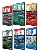 "Victory By Design DVDs. Complete Set. Porsche DVD, Ferrari DVD, Maserati DVD, Aston Martin DVD, Alfa Romeo DVD, Jaguar DVD. Race-winning cars driven hard. Unique footage, rare cars, hidden in private collections. ""Car Porn"" The New York Times"