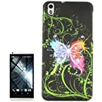 Colored Butterfly Pattern Plastic Case for HTC Desire 816