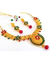 Megh Craft Women's Indian Ethnic Paisley shape One Gram Gold Plated Jewellery
