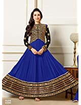 Karishma Kapoor Blue Deigner Floor Length Anarkali Suit JN1108