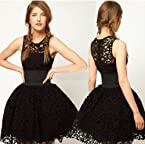 Santana Women's Black Lace Tutu Mini dress