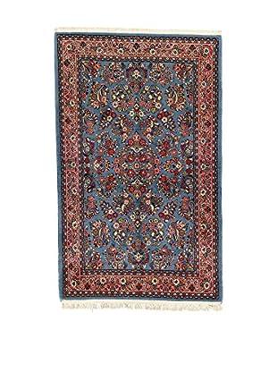 L'Eden del Tappeto Teppich Sarogh blau/rot 222t x t140 cm