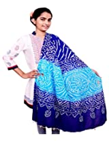 Rangsthali cotton Bandhej work Womens dupatta Stole