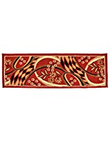 """Agra Dari Woolen Door Mat - 7"""" x 9"""" x 0.39"""", Red"""