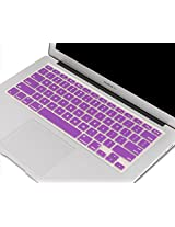 "Cables Kart Soft Silicone Keyboard Skin Crystal Guard Protector Cover For MacBook 13"" / 15"" / 17"" inch - Purple"