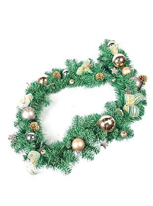 Guirnalda Decorada Navidad Ocre