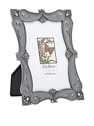 Philip Whitney Mariposa Pewter Grey Scroll Scalloped 4