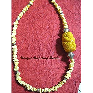 Unique Dazzling Beads Youthful Yellow