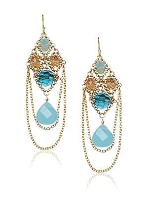 Diane Yang Chandelier Earrings, C-Blue