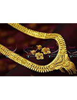 Forming One Gram Handmade South Indian Traditional Haram Long Necklace Online