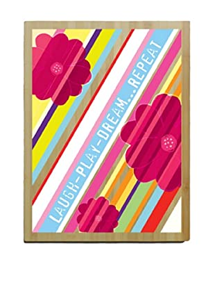 Artehouse Laugh Play Dream Bamboo Wood Sign