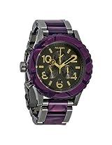 Nixon 48-20 Chronograph Gunmetal Velvet Unisex Watch (A0371345)